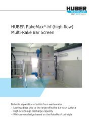Brochure: HUBER RakeMax®-hf (high flow) Multi-Rake Bar Screen