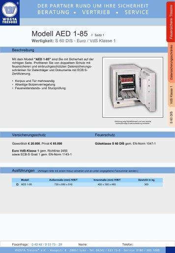 Serie AED 1-85 - Wosta Tresore