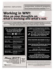 Working in WNY: - Buffalo Niagara Enterprise