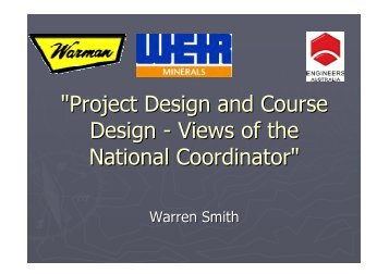 """Project Design and Course Design - Views of the National ... - NCED"
