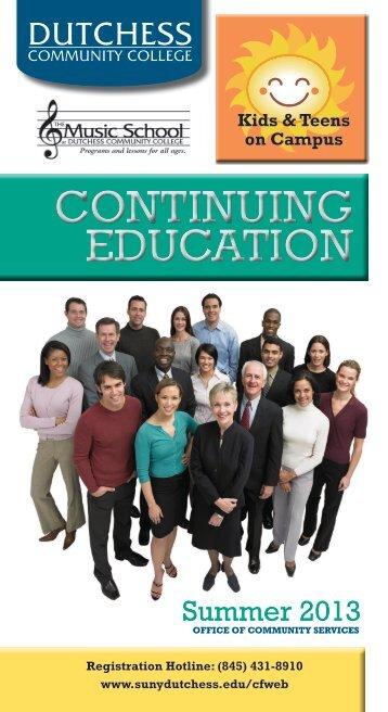 CONTINUING EDUCATION - Dutchess Community College