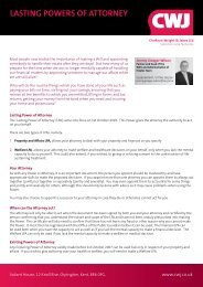 Download our leaflet for further information and prices - Clarkson ...
