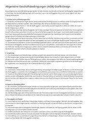 Allgemeine Geschäftsbedingungen (AGB) Grafik-Design