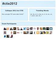 ctie2012 Colloque 2012 du CTIE - SFIB - Educa
