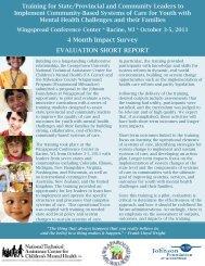 4 Month Impact Survey EVALUATION SHORT REPORT - National ...