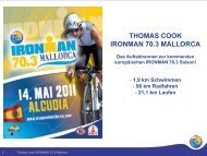 THOMAS COOK IRONMAN 70.3 MALLORCA Das Auftaktrennen zur ...