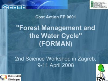 Forest Management and the Water Cycle (FORMAN)