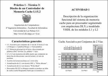 Práctica 1 - Técnica 3: Diseño de un Controlador de Memoria Cache ...
