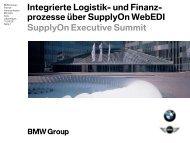 Integrierte Logistik- und Finanzprozesse über SupplyOn WebEDI
