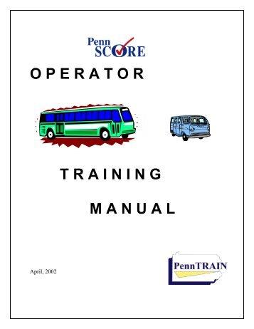 Operator Training Manual - CalACT