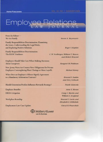 Family Responsibilities Discrimination:_The EEOC Guidance