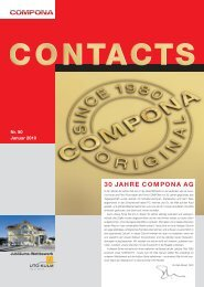 Vers le CONTACTS 50 (PDF) - Compona AG