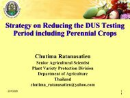 Strategy on Reducing the DUS Testing Period including Perennial ...