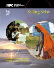 Selling Solar: Lessons from More than a Decade of IFC's ... - Sunlabob