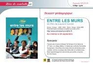 Dossier pédagogique ENTRE LES MURS - cineclass