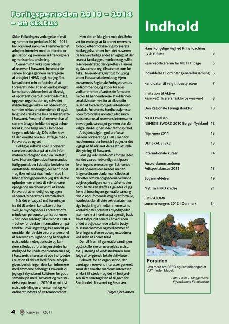 I bladet - Hovedorganisationen for Personel af Reserven i Danmark