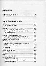 Inhaltsverzeichnis Geweckte Neugier — Eine Einleitung Einige ...