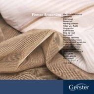 Firmen Broschüre - Gustav Gerster GmbH