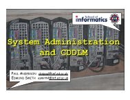 System Administration and CDDLM Presentation (at GGF12)