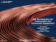 Site Revitalization for Conservation and Community Engagement