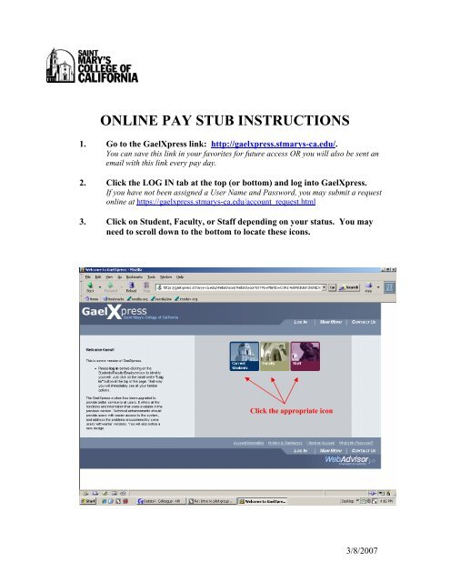 Online Pay Stub Instructions