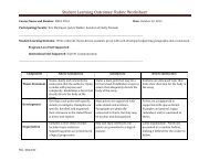 Student Learning Outcomes: Rubric Worksheet - Ventura College