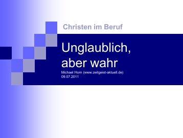 Unglaublich - aber wahr - zeitgeist-aktuell.de