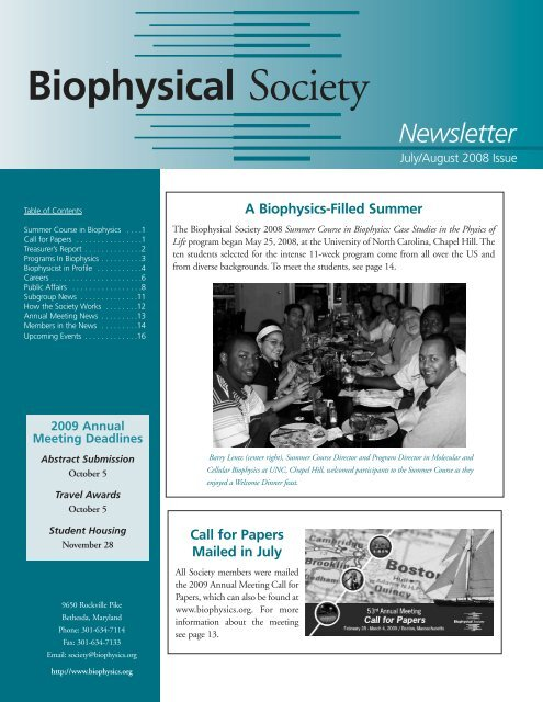 JulyAugust-08-222:Layout 1.qxd - Biophysical Society