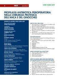 Profilassi antibiotica perioperatoria nella chirurgia protesica