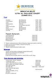IBEROSTAR BELLIS ULTRA ALL INCLUSIVE CONCEPT - Wayout