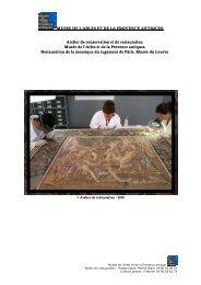 MUSEE DE L'ARLES ET DE LA PROVENCE ANTIQUES Atelier de ...