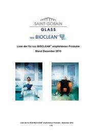 Handhabungshinweise SGG Bioclean - Saint-Gobain Glass