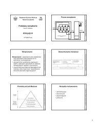 Podstawy zarządzania WYKŁAD IV - Wydział Zarządzania