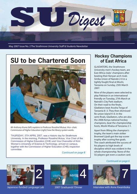 SU Digest Issue No 2 - Strathmore University