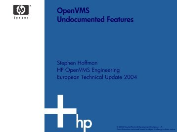 OpenVMS Undocumented Features
