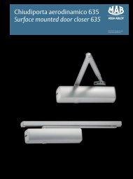Chiudiporta aerodinamico 635 Surface mounted ... - ASSA ABLOY