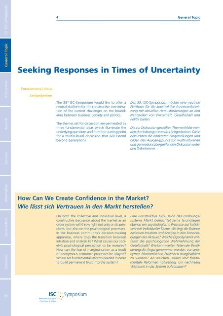 Seeking Responses in Times of Uncertainty - Wolfgang Petritsch