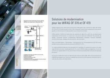 Solutions de modernisation pour les WIFAG OF 370 et OF 470