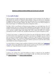 Note de la DGEC sur les critères d'intégration de l'arrêté du 31 août ...
