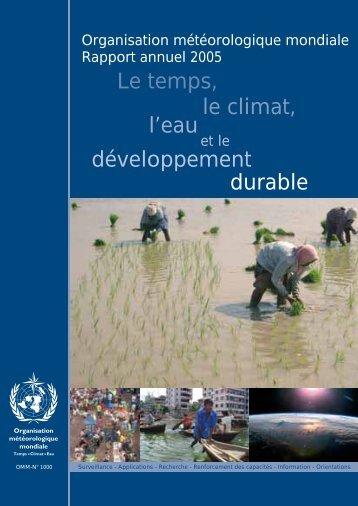 développement Le temps, le climat, l'eau durable - E-Library - WMO