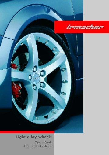 Light alloy wheels - Irmscher