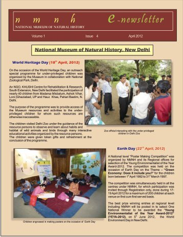 E-Newsletter-APRIL 12 - National Museum of Natural History