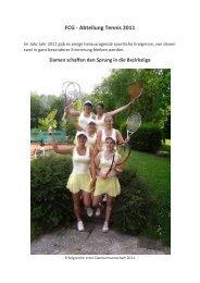 FCG - Abteilung Tennis 2011 - Tennis beim FCG
