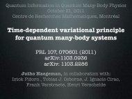 Time-dependent variational principle for quantum many-body ... - EPIQ