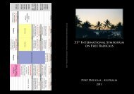 abstract book - International Symposium on Free Radicals - The ...