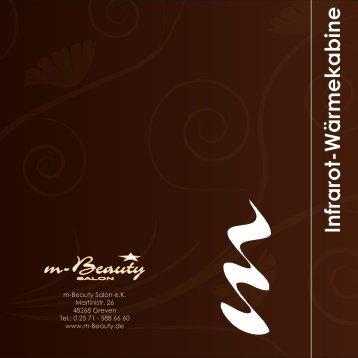 Infrarot-Wärmekabine - m-Beauty Salon