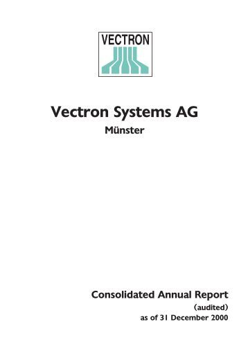 4 R&D report - Vectron Systems AG