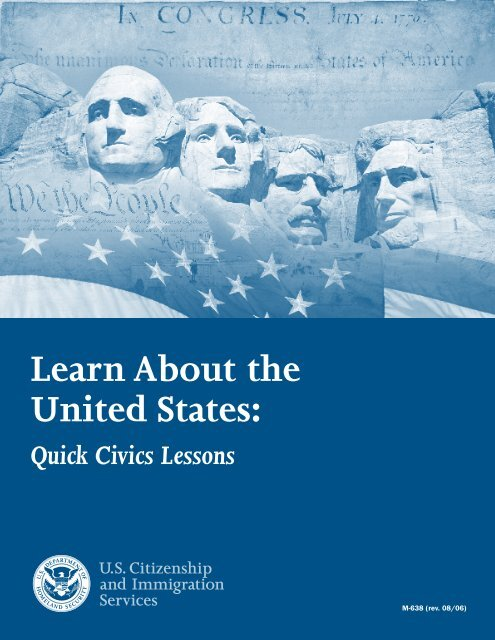 Learn About the United States: - English as a Second Language
