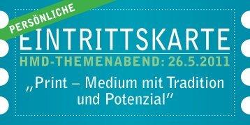 """Print – Medium mit Tradition und Potenzial"""