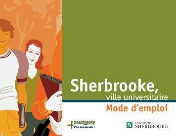 Sherbrooke, ville universitaire - Mode d'emploi (PDF)